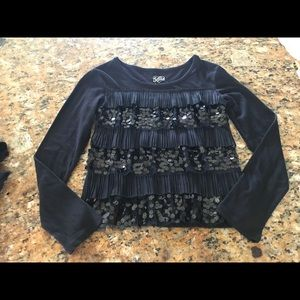 Justice sequin formal top size 8